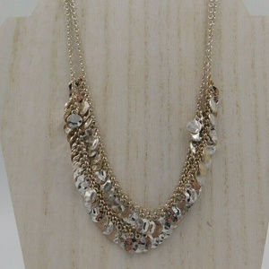 """Talbots Silver Tone 18"""" Necklace"""